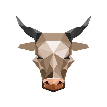 buey: Ilustración del resumen origami toro