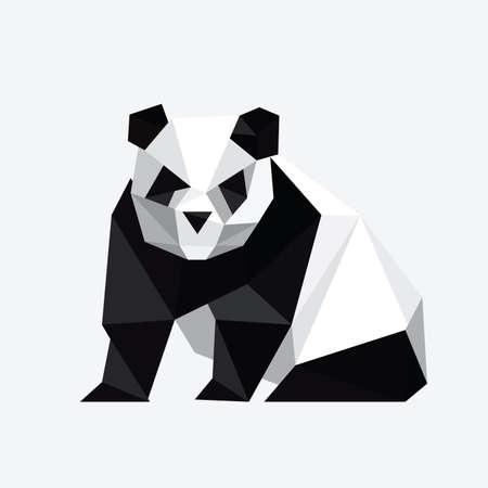 Ilustración del resumen oso panda origami