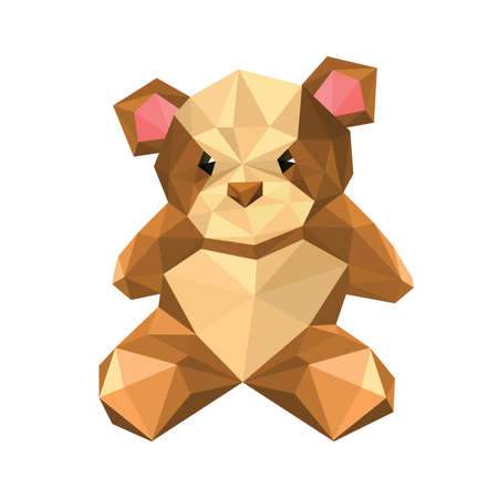 Illustration of abstract teddy bear Illustration