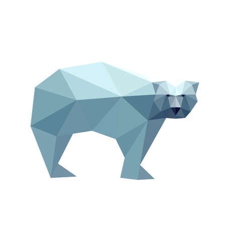 Illustration of polygonal bear Vector