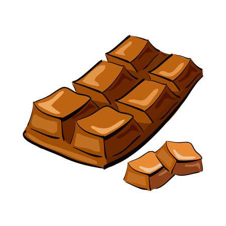 barra de chocolate: Ilustraci�n de la barra de chocolate dibujado a mano