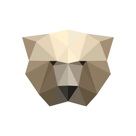 Illustration of polygonal bear portrait Vector