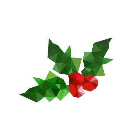 aquifolium: Illustration of origami christmas holly leaves