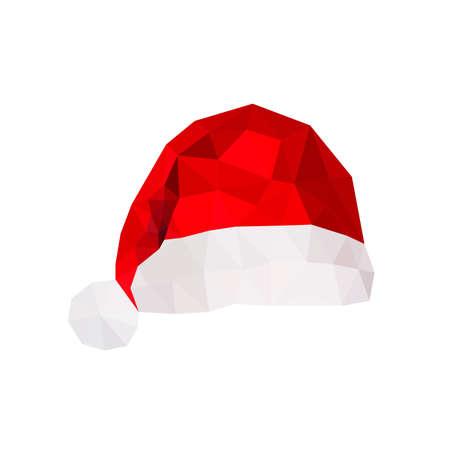 christmas hat: Illustration of origami santa claus hat Illustration