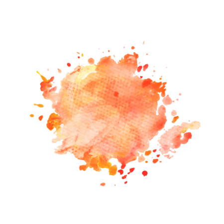Illustration of hand drawn watercolo red splash isolated on white background Ilustrace