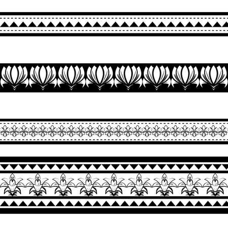 armband: Illustrazione di nero polynesian bracciale tatuaggio isoalted su sfondo bianco