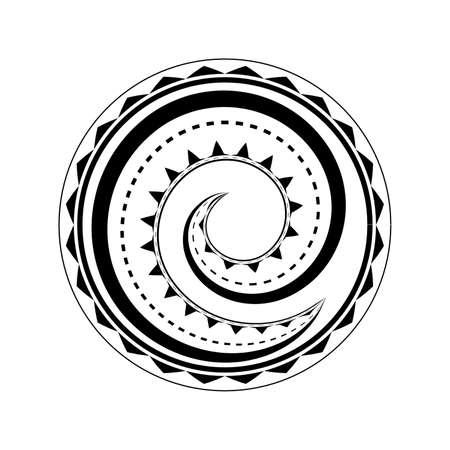 Diseño del tatuaje maorí aislado en fondo blanco