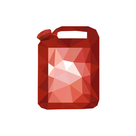 canister: Illustration of red origami oil canister isolated on white background Illustration
