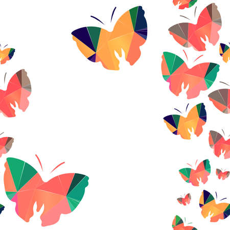 manic: Seamless background with origami butterflys