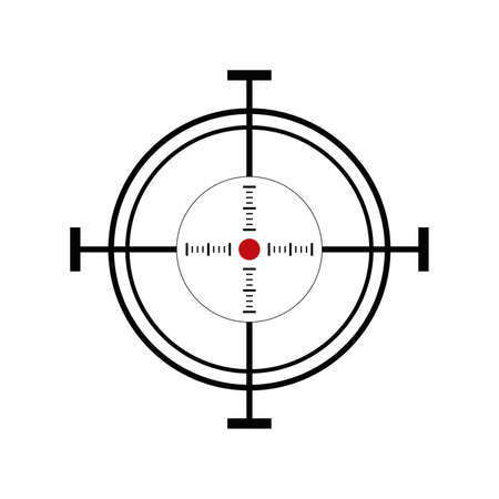 shooting target: Illustration with shooting target icon on white background
