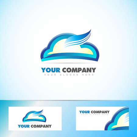 Vector Logo Template Of A Cloud Computing Symbol Royalty Free ...