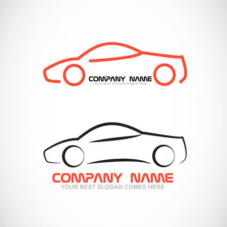 racing sign: Vector company logo icon element template racing car concept fast Illustration