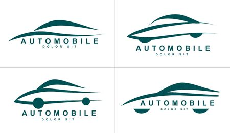 company: Vector logo template of stylized shapes of car or automobile
