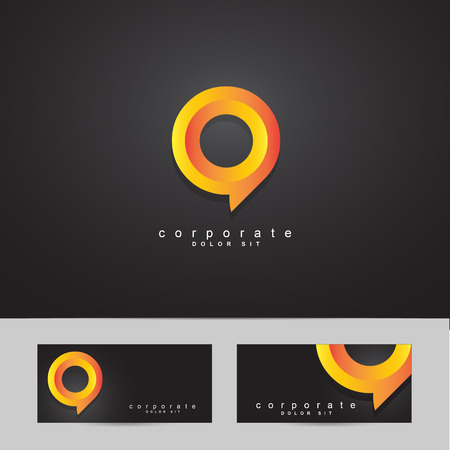 business symbol: Logo vector template of a corporate or business symbol