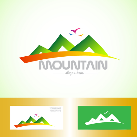 brand activity: Vector company logo element template of mountain shape for tourism, outdoor and gear Illustration