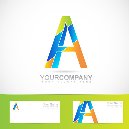 business it: Vector company logo element template of colored alphabet letter A for business, media, it, corporate, advertising