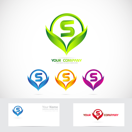 Vektor Firmenlogo Symbol Element Template Buchstaben S Alphabet ...