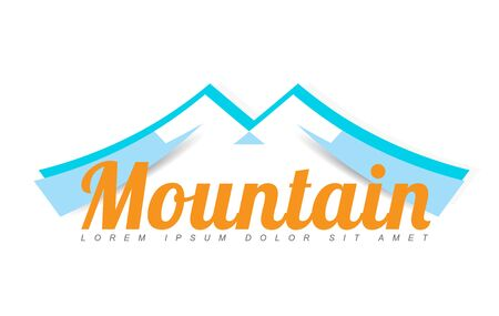 brand activity: Template vector design of a stylized mountain top