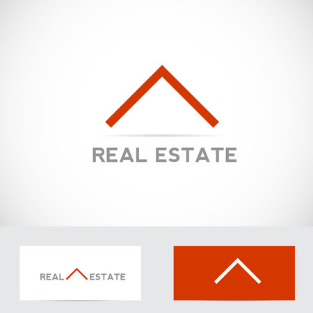 Vector company logo element template real estate abstract house roof icon simple