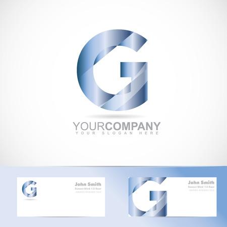 logos de empresas: Logo Vector plantilla del alfabeto letra g 3d con la tarjeta de visita