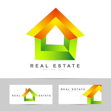 realtor: Colored vector template of a real estate logo icon Illustration