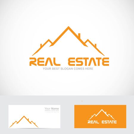 simple house: Vector company logo icon element template simple house roof real estate Illustration
