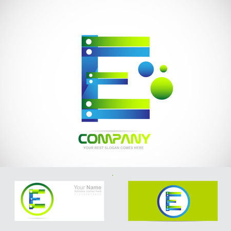 e alphabet: Vector company logo icon element template letter e alphabet media games it corporate