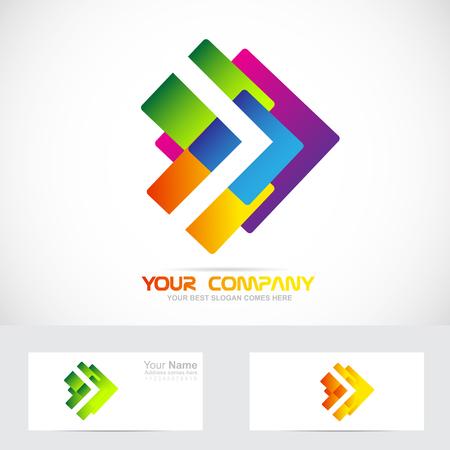 Vecteur société élément logo icône modèle de couleurs abstraites du concept de Moving Forward