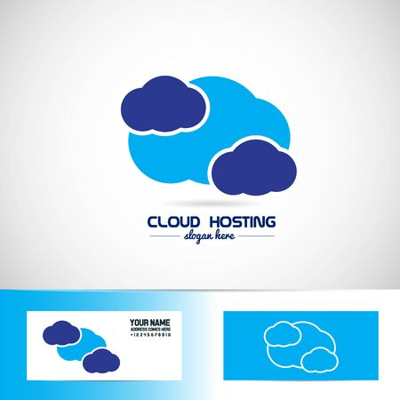 Vector Element Template Of Blue Cloud For Hosting Storage Business ...