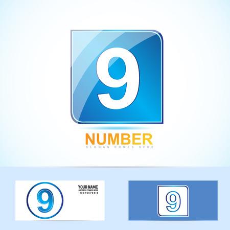 numero nueve: El n�mero nueve 9 logo