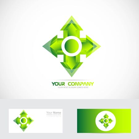 green cross: Vector company icon element template green cross with arrow heads
