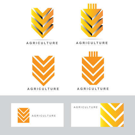 agriculture field: Vector  design template of a wheat symbol for agriculture products