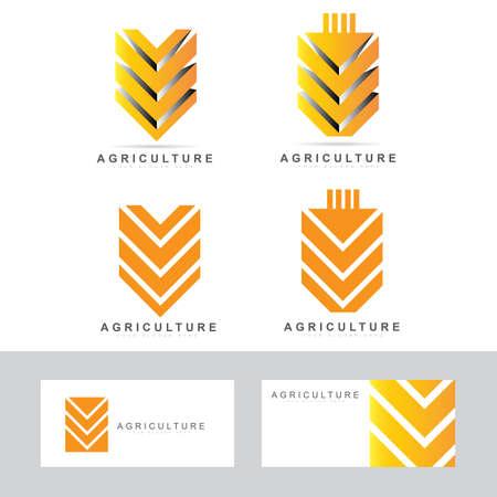 agricultura: Vector plantilla de diseño de un símbolo de trigo para los productos agrícolas Vectores