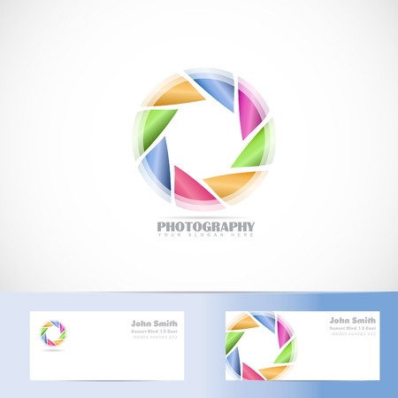 aperture: Vector template of photography shutter aperture