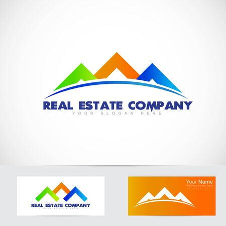 real estate house: Vector company element template of house roof real estate stylized concept Illustration