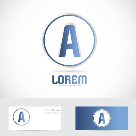 blue circle: Vector company logo icon element template of letter T alphabet blue circle