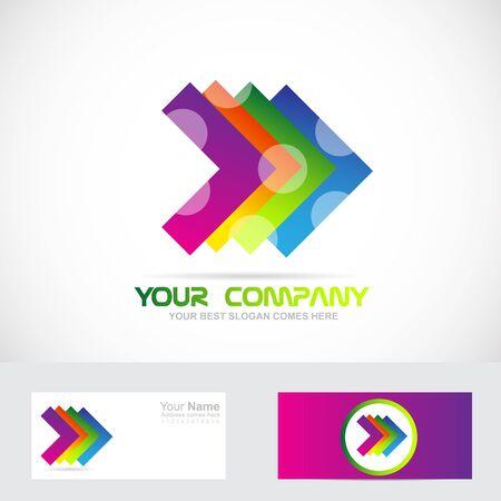 Vector company logo icon element template arrow colors