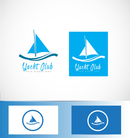 yachting: icon element template yacht yachting boat shape sailing blue holiday