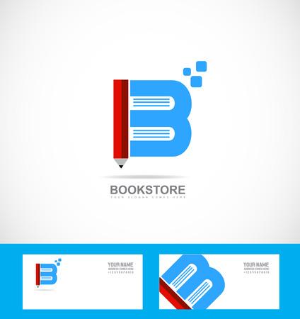 marca libros: biblioteca librería lápiz logotipo de la empresa icono de plantilla logotipo elemento libro