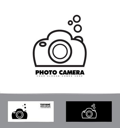 photo icon: company logo icon element template photo black and white contour camera photographer dslr