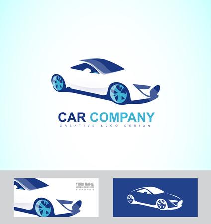 company logo icon element template race luxury car repair service Illustration