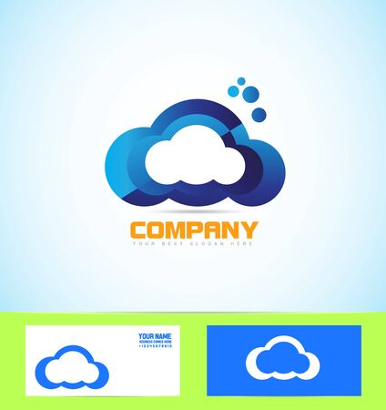 Company Logo Icon Element Template Cloud Network Computing Hosting ...