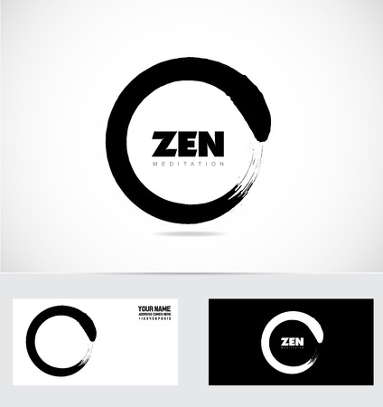 company logo icon element template zen meditation center studio symbol grunge circle