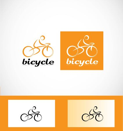 company logo icon element template bicycle cyclist cyclism bicyclist bicyclism