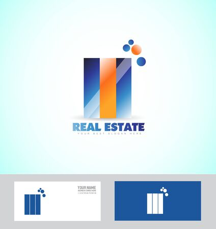 realty: company logo icon element template realty real estate buildings abstract