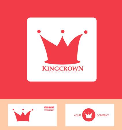 luxo: ícone do elemento do modelo rei coroa real