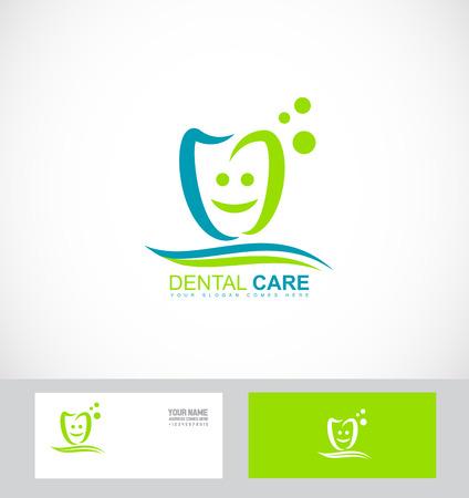 compañía icono insignia de la plantilla elemento de la práctica dental dentista