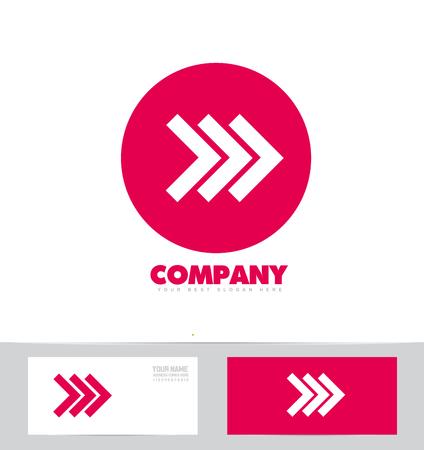forward arrow: company logo icon element template forward arrow advertising media corporate games