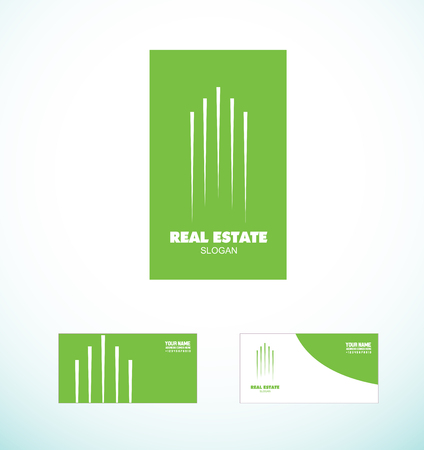 constuction: icon element template real estate building abstract line skycraper constuction