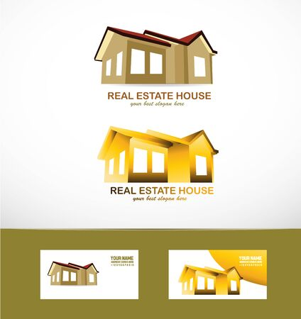 mansion: icon element template real estate icon mansion set